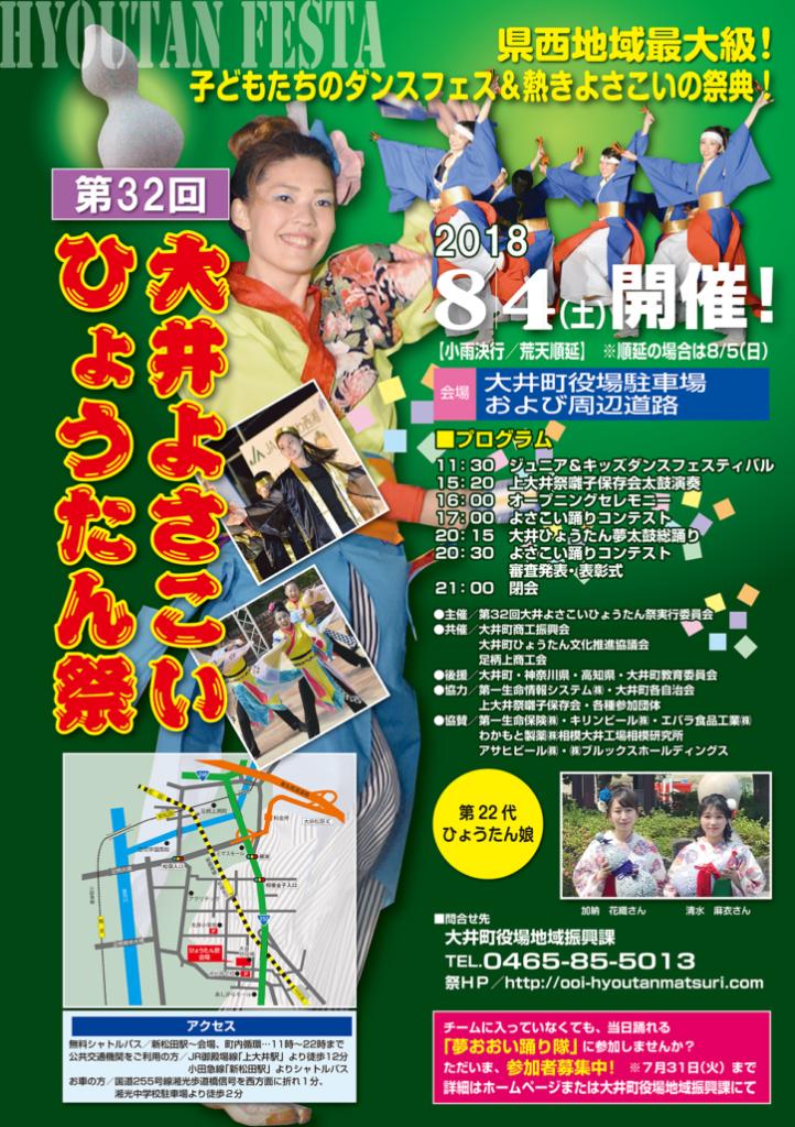 【演舞告知】8月4日(土)大井よさこいひょうたん祭りに参加します。